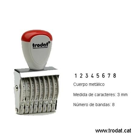 Numerador 8 bandas de 3 mm.