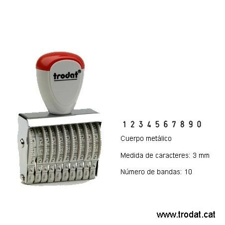 Numerador 10 bandas de 3 mm.