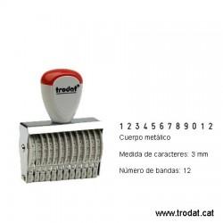 Numerador 12 bandes de 3 mm.