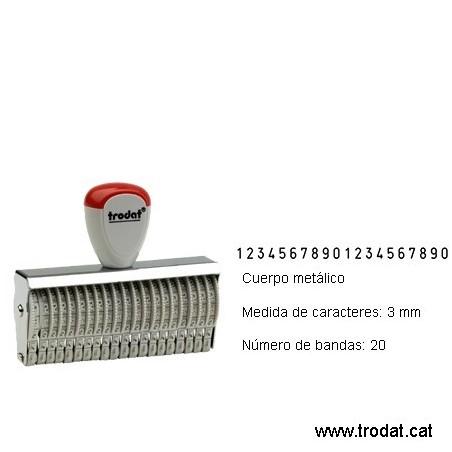 Numerador 20 bandas de 3 mm.
