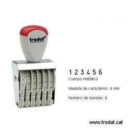 Numerador 6 bandas de 4 mm.