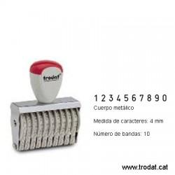 Numerador 10 bandes de 4 mm.