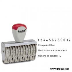 Numerador 12 bandes de 4 mm.