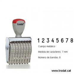 Numerador 8 bandes de 7 mm.