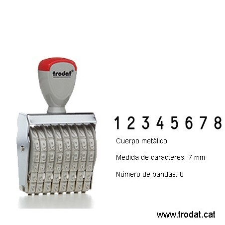 Numerador 8 bandas de 7 mm.