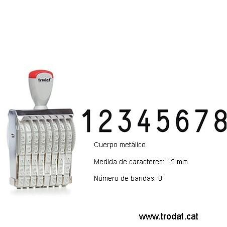 Numerador 8 bandas de 12 mm.