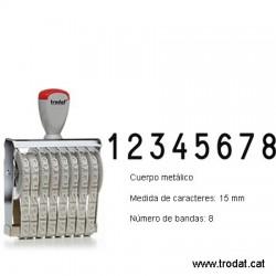 Numerador 8 bandes de 15 mm.