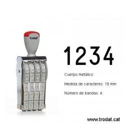 Numerador 4 bandas de 18 mm.