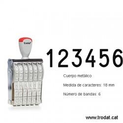 Numerador 6 bandas de 18 mm.
