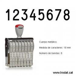 Numerador 8 bandes de 18 mm.