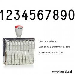 Numerador 10 bandes de 18 mm.