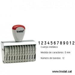 Numerador 12 bandes de 5 mm.