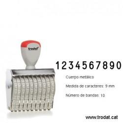 Numerador 10 bandes de 9 mm.
