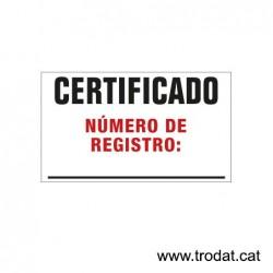 Prof. Line 5200 placa de text 41x24 mm.