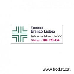 Prof. Line 5205 placa de texto 70x25 mm.