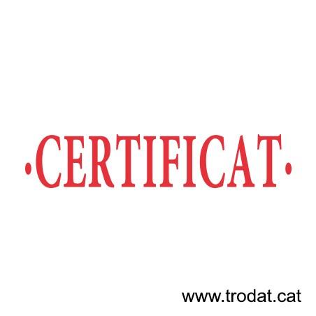 Formula Comercial Certificado