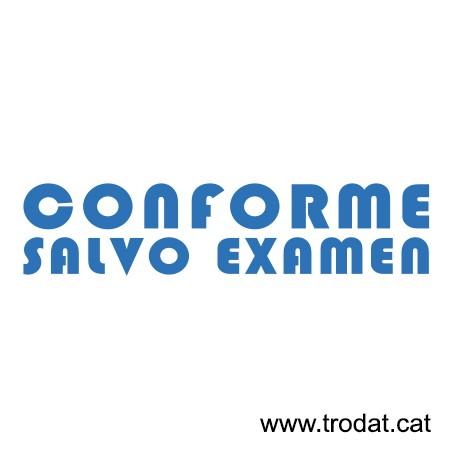 Formula Comercial Conforme salvo examen