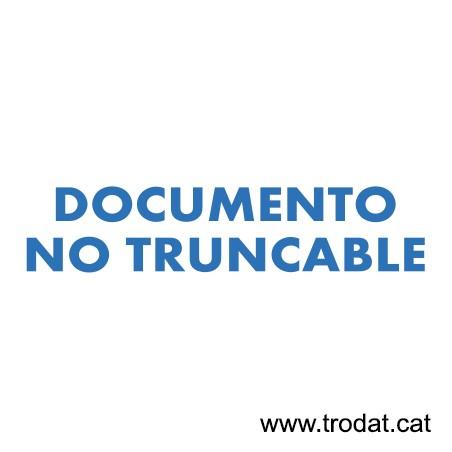 Formula Comercial Documento no truncable
